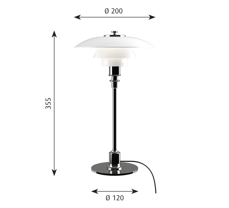 Ph 2 1 lampe de table  lampe a poser table lamp  louis poulsen 5744164278  design signed 58475 product