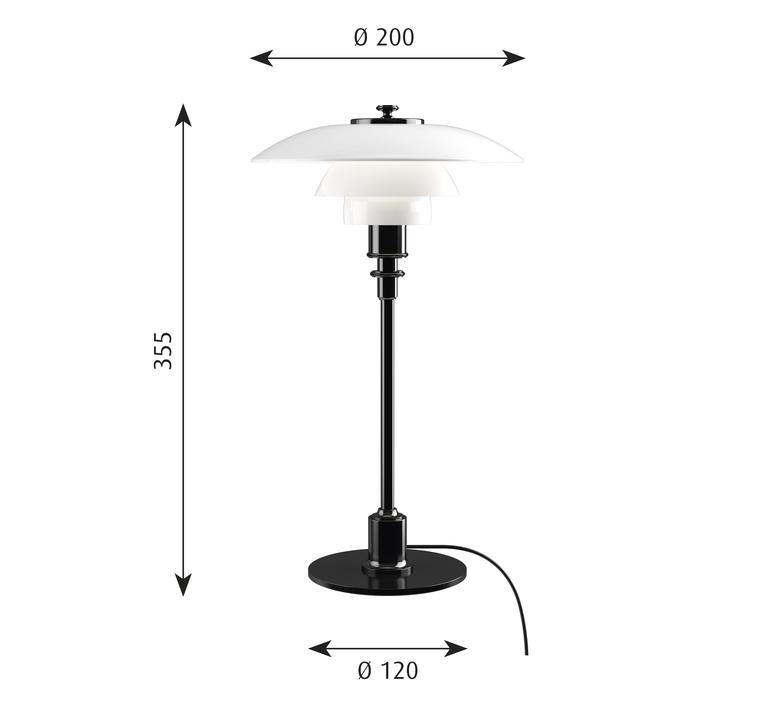 Ph 2 1 lampe de table  lampe a poser table lamp  louis poulsen 5744166153  design signed 58478 product