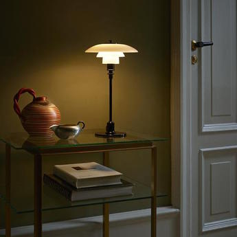 Lampe a poser ph 2 1 lampe de table noir brillant led o20cm h35 5cm louis poulsen normal