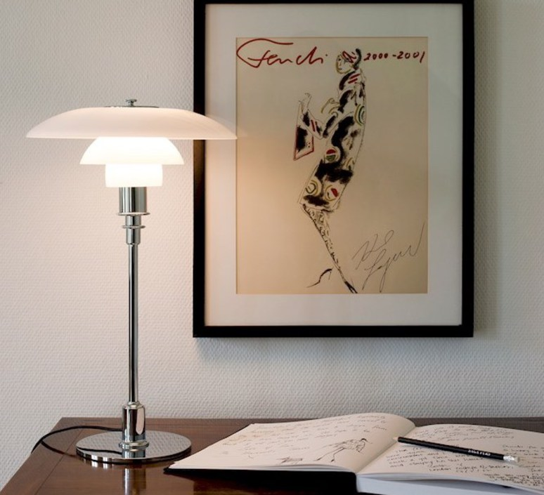 32chromeØ29cmH47 Table LOUIS lampPH POULSEN 2cm XZTOPkiu