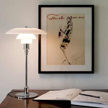 Lampe a poser ph 3 2 chrome o29cm h47 2cm louis poulsen normal