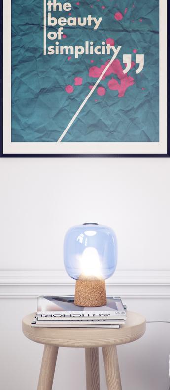 Lampe a poser picia bleu o16cm h21cm zanolla normal