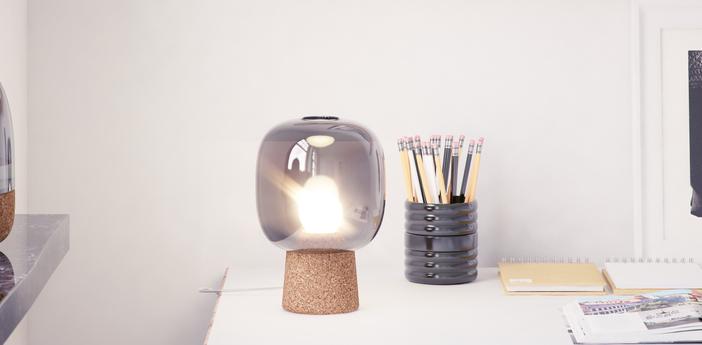 Lampe a poser picia gris o16cm h21cm zanolla normal