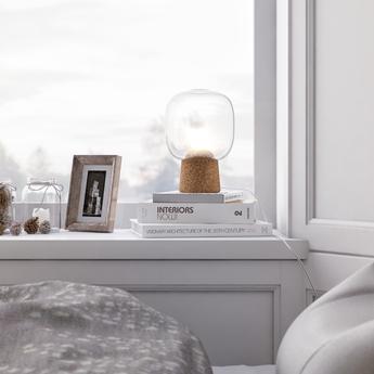 Lampe a poser picia transparent o16cm h21cm zanolla normal