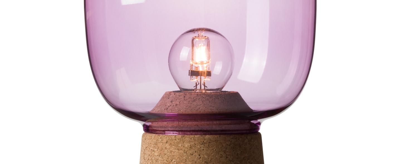 Lampe a poser picia violet o16cm h21cm zanolla normal