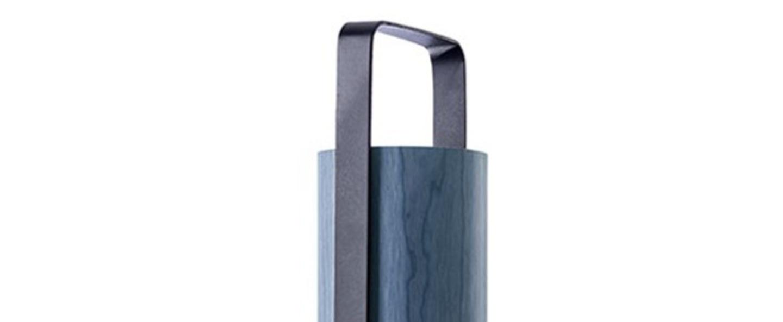 Lampe a poser piknik m bleu led h37cm l9 5cm lzf normal