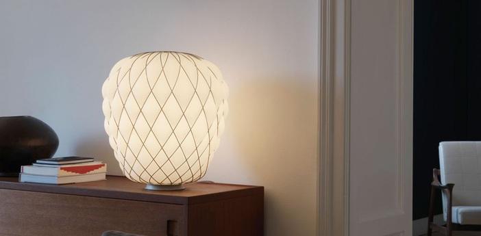 Lampe a poser pinecone blanc h52cm fontana arte normal