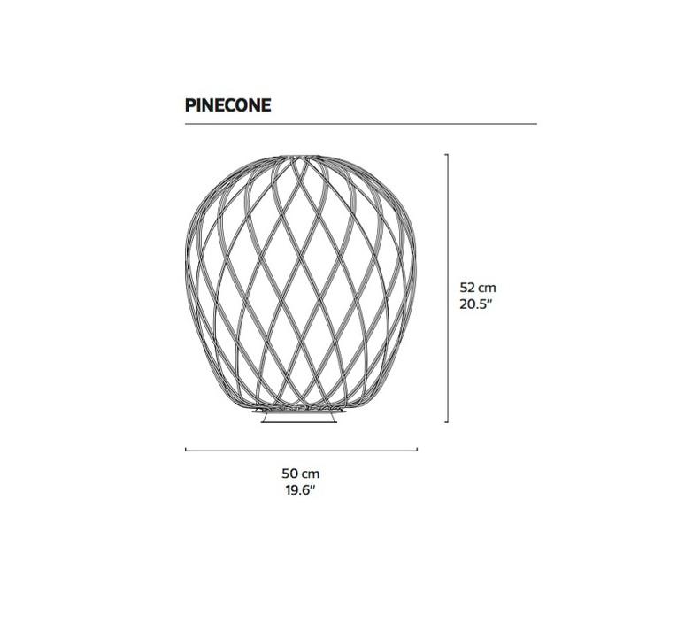 Pinecone paola nanove fontanaarte 4340bi luminaire lighting design signed 24569 product