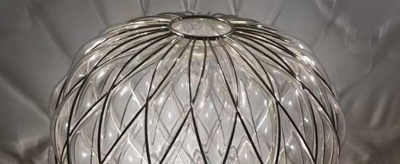 Lampe a poser pinecone chrome o50cm h52cm fontana arte normal
