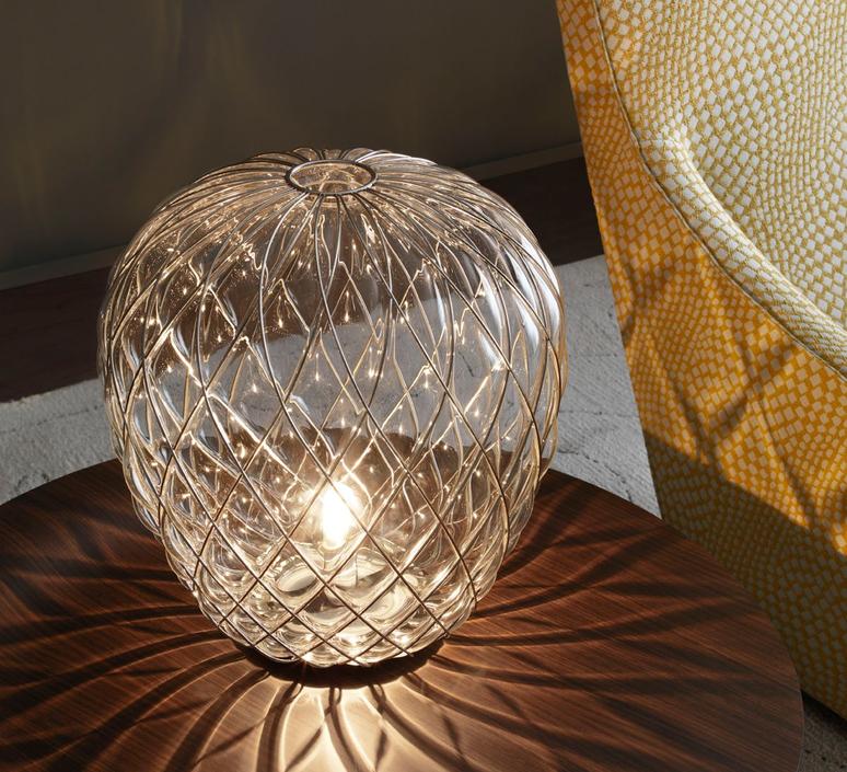 Pinecone paola navone lampe a poser table lamp  fontana arte 4340tr chrome transparent  design signed nedgis 65719 product