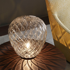 Pinecone paola navone lampe a poser table lamp  fontana arte 4340tr chrome transparent  design signed nedgis 65719 thumb