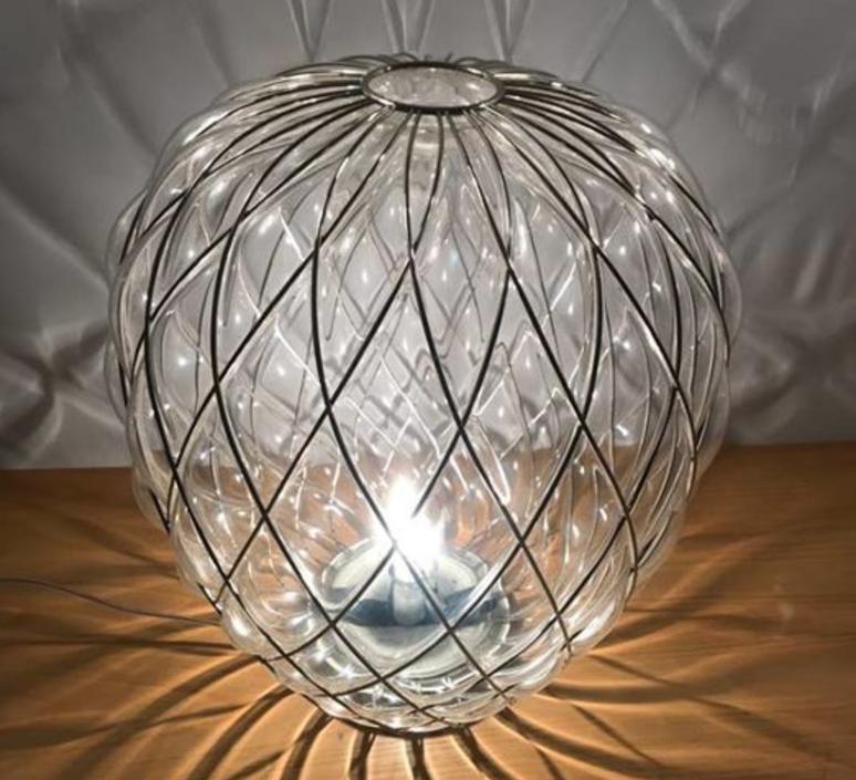 Pinecone paola navone lampe a poser table lamp  fontana arte 4340tr chrome transparent  design signed nedgis 65730 product