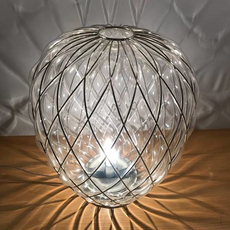 Pinecone paola navone lampe a poser table lamp  fontana arte 4340tr chrome transparent  design signed nedgis 65730 thumb