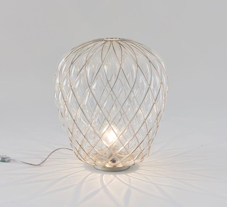 Pinecone paola navone lampe a poser table lamp  fontana arte 4340tr chrome transparent  design signed nedgis 65731 product