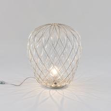 Pinecone paola navone lampe a poser table lamp  fontana arte 4340tr chrome transparent  design signed nedgis 65731 thumb