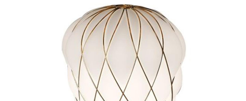 Lampe a poser pinecone or o30cm h36cm fontana arte normal