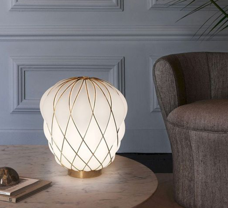 Pinecone paola navone lampe a poser table lamp  fontana arte 4364oo bi gold white  design signed nedgis 65726 product