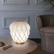 Pinecone paola navone lampe a poser table lamp  fontana arte 4364oo bi gold white  design signed nedgis 65726 thumb