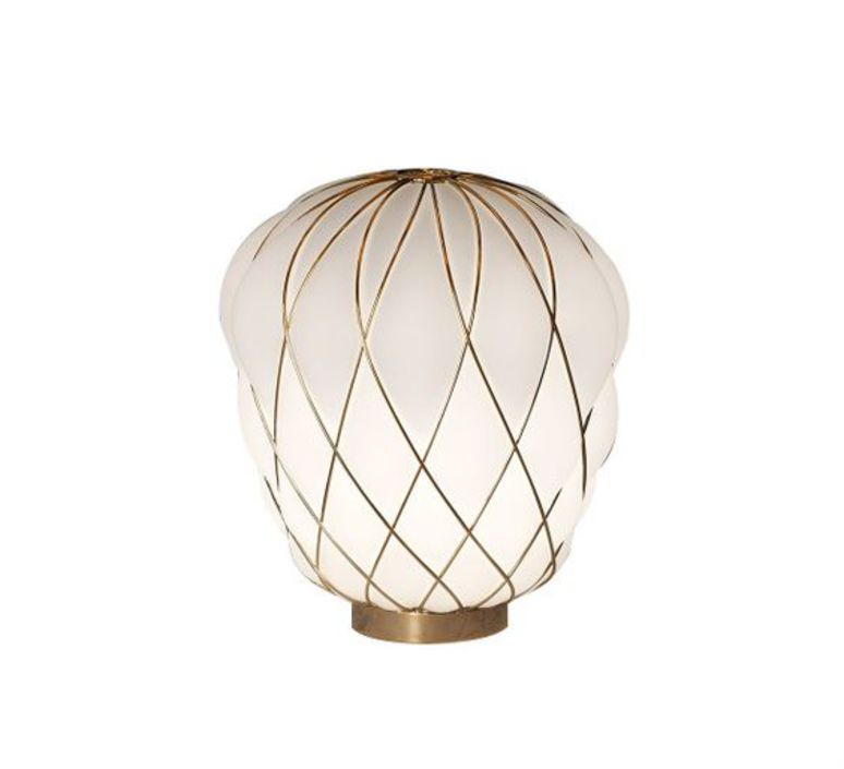Pinecone paola navone lampe a poser table lamp  fontana arte 4364oo bi gold white  design signed nedgis 65728 product