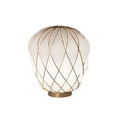 Pinecone paola navone lampe a poser table lamp  fontana arte 4364oo bi gold white  design signed nedgis 65728 thumb