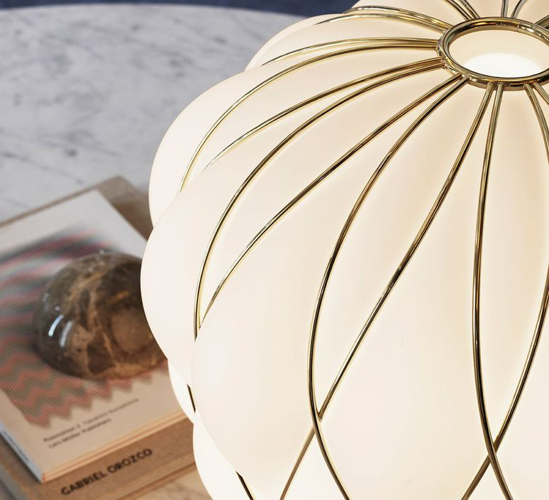 Pinecone paola navone lampe a poser table lamp  fontana arte 4340oo bi gold white  design signed nedgis 65729 product
