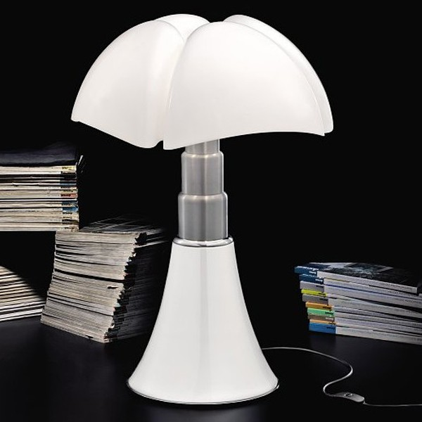 lampe poser pipistrello blanc h86cm martinelli luce luminaires nedgis. Black Bedroom Furniture Sets. Home Design Ideas