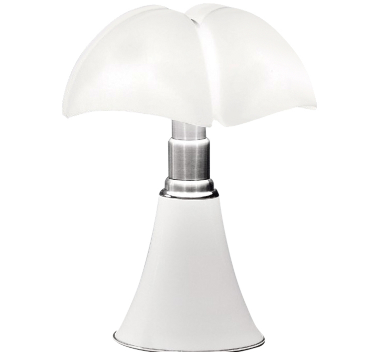 lampe poser pipistrello variateur led blanc h86cm. Black Bedroom Furniture Sets. Home Design Ideas