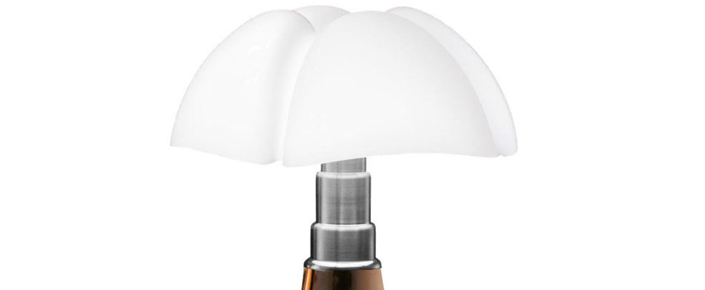 Lampe a poser pipistrello led cuivre h86cm martinelli luce normal