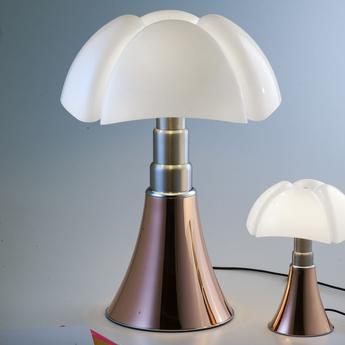 Lampe a poser pipistrello led cuivre h86cm martinelli luce normal