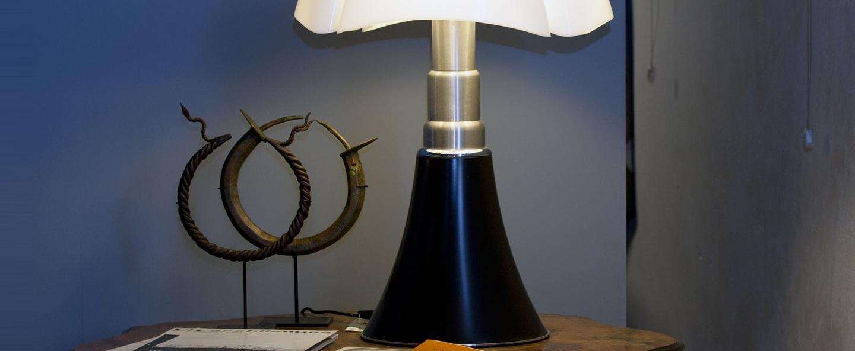 Lampe a poser pipistrello marron fonce h86cm martinelli luce normal