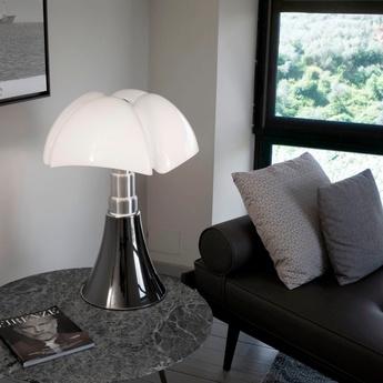 Lampe a poser pipistrello medium titane led 2700k 850lm o40cm h50 a 62cm martinelli luce normal