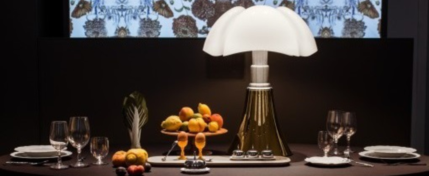 Lampe a poser pipistrello or h86cm martinelli luce normal