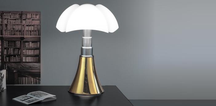 Lampe a poser pipistrello or h86cm martinelli luce normal