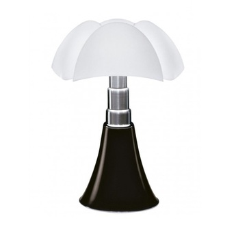 Lampe a poser pipistrello variateur led marron fonce h86cm martinelli luce normal