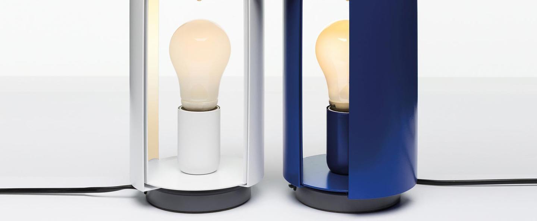 Lampe a poser pivotante blanc o12 5cm h20cm nemo lighting normal