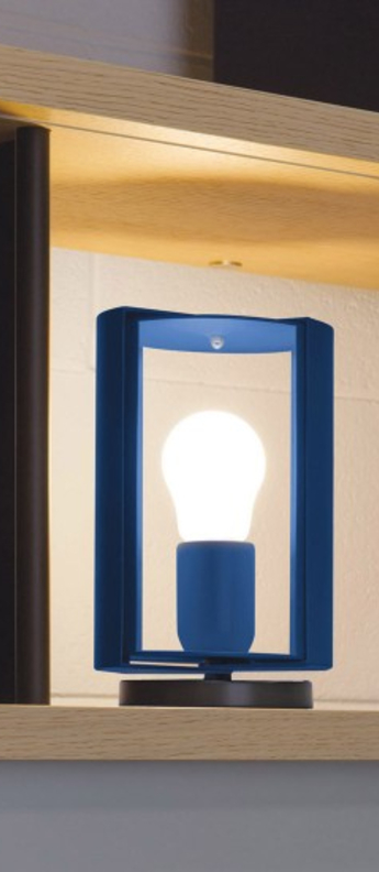 Lampe a poser pivotante bleu o12 5cm h20cm nemo lighting normal