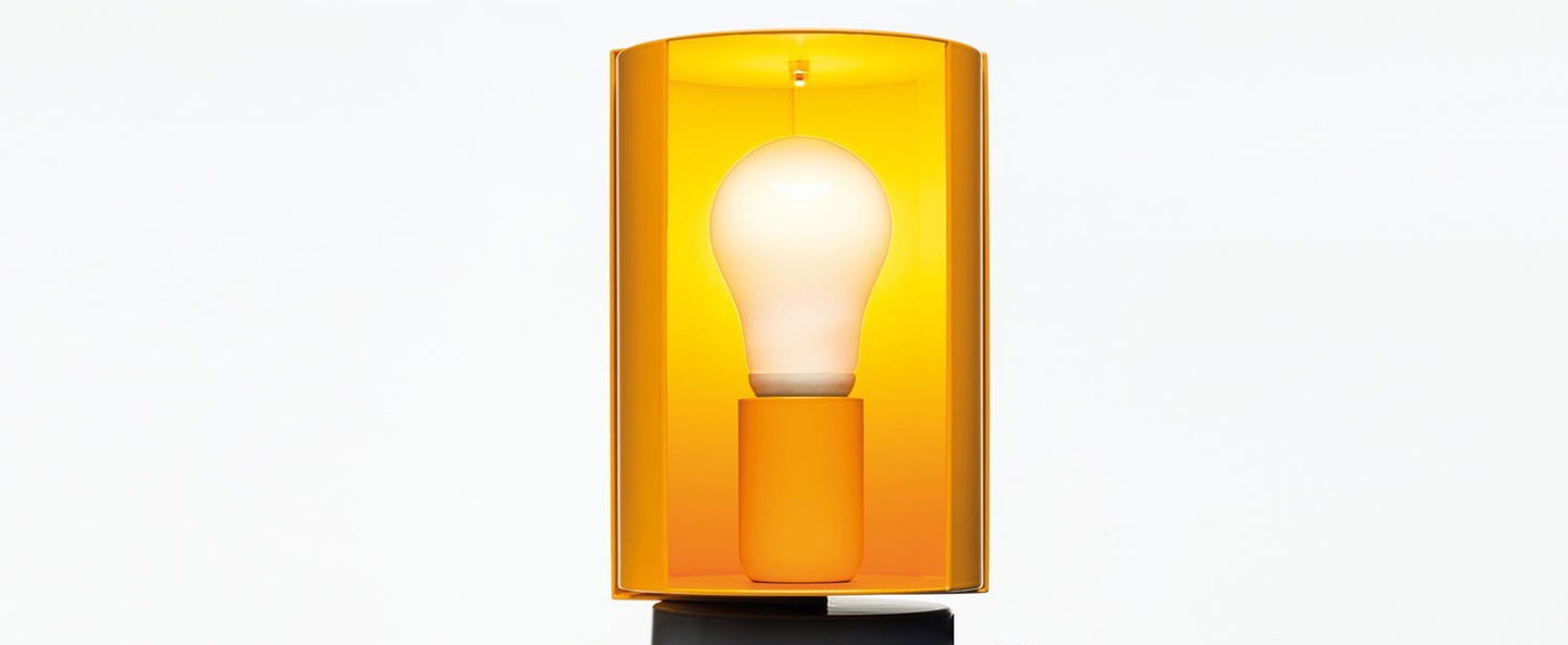 Lampe a poser pivotante jaune o12 5cm h20cm nemo lighting normal