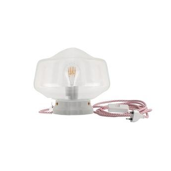 Lampe a poser porcelaine 001 blanc o25 5cm h19cm zangra normal