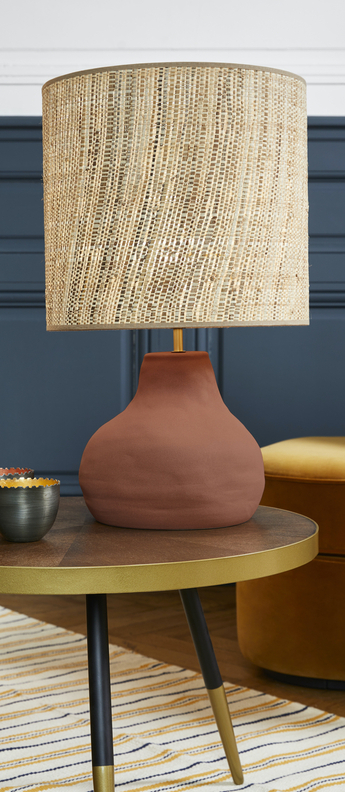 Lampe a poser portinatx m terracotta o35cm h58cm market set normal