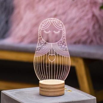 Lampe a poser poupee russe blanc l15cm h23cm studio cheha normal