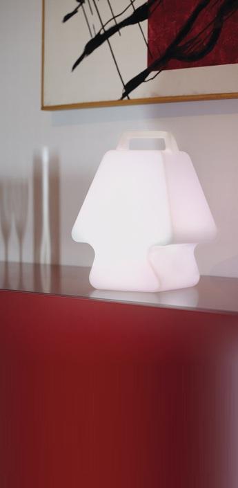 Lampe a poser pret a porter led rgb blanc h37cm slide normal