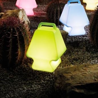 Lampe a poser pret a porter vert h37cm slide normal