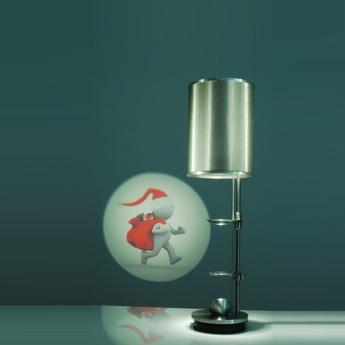 Lampe a poser projecteur miss scope gris h51cm designheure normal