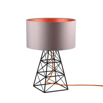 Lampe a poser pylon gris orange h51cm o36cm filamentstyle normal