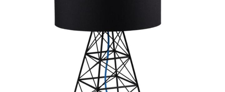 Lampe a poser pylon noir blue h51cm o36cm filamentstyle normal