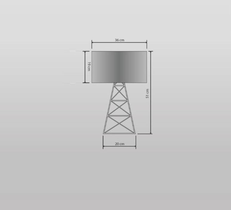 Pylon laurent mare lampe a poser table lamp  filamentstyle filament 612  design signed 30203 product