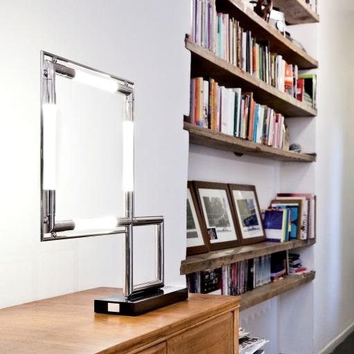 lampe poser quadro palladium h58cm lumen center italia luminaires nedgis. Black Bedroom Furniture Sets. Home Design Ideas