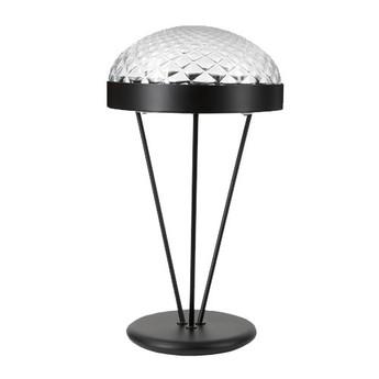 Lampe a poser rays noir mat verre h60cm o32cm mm lampadari normal