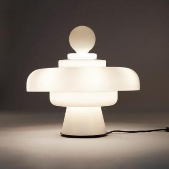 Lampe a poser regina blanc led 3000k 5500lm o49cm h45cm fontana arte normal
