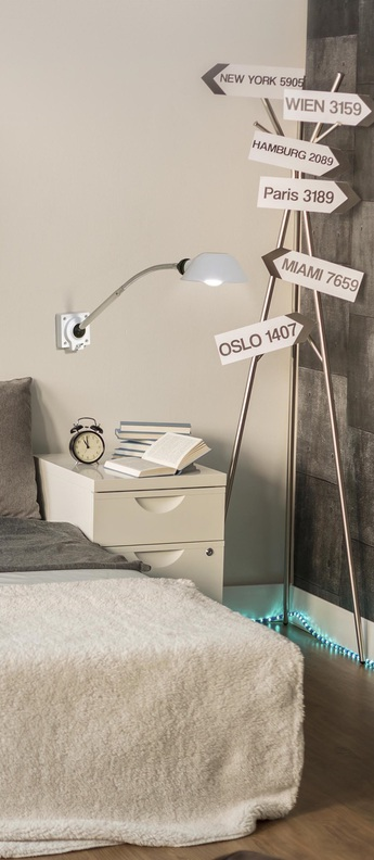 Lampe a poser remake blanc led o9 5cm h15 5cm faro normal